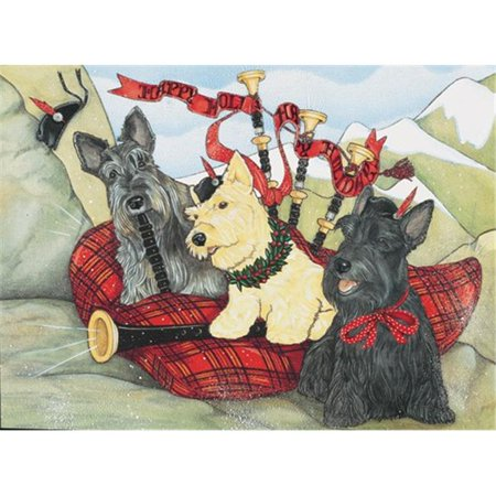 Pipsqueak Productions C936 Scottish Terriers Christmas Boxed Cards - Pack of 10
