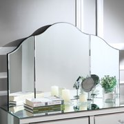 Chivan Tabletop Vanity Mirror - Tri Fold | Makeup | Bedroom | Free Standing | Frameless | Modern Contemporary