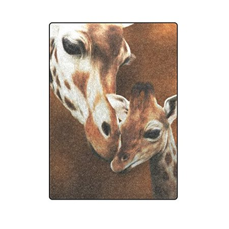 CADecor Giraffe Adult And Baby Couch Sofa or Bed Fleece Blanket Throw 58x80 inches](Giraffe Blanket)