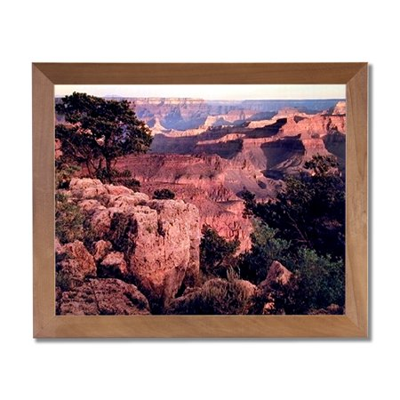 Photo Of The Grand Canyon At Sunset Wall Picture Honey Framed Art Print