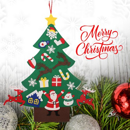 Pinkmall DIY Christmas Tree Kit Christmas Tree Decor Felt Set with Ornaments for Xmas ()