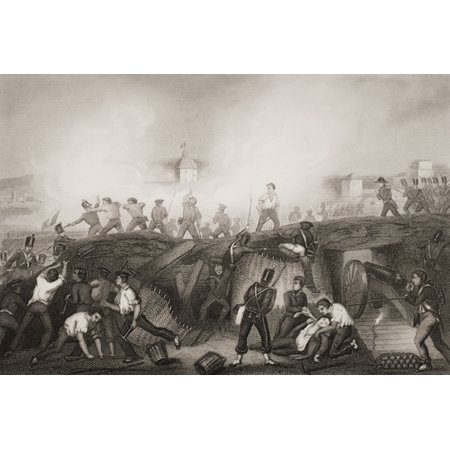 The Battle Of Ciudad Rodrigo19Th January 1812 Engraved By DPound After GWTerry From Englands Battles By Sea And Land By Lieut Col Williams The London Printing And Publishing Company Circa 1890S Canvas