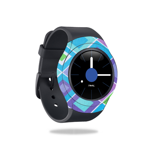 MightySkins Protective Vinyl Skin Decal for Samsung Gear S2 Smart Watch cover wrap sticker skins Pastel Argyle