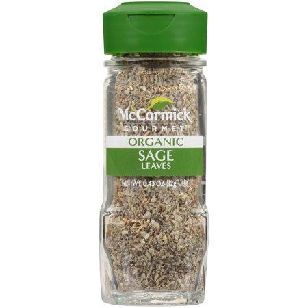 McCormick Gourmet Organic Sage Leaves, 0 43 oz