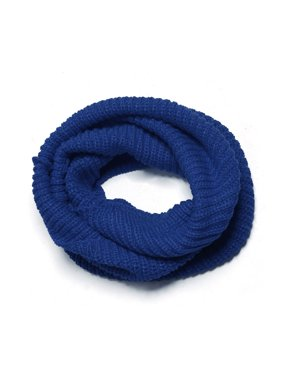 Unique Bargains Women's Ribbed Neck Circle Knitted Scarf