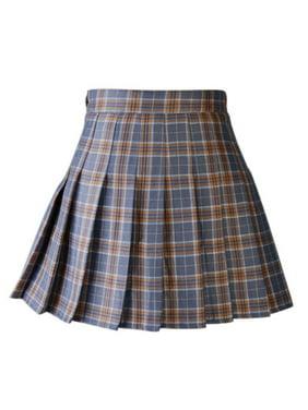 5fd6d3f833c8 Product Image Women Plaid Pleated Skirt Dancewear Women High Waist Tartan  Mini Skirt