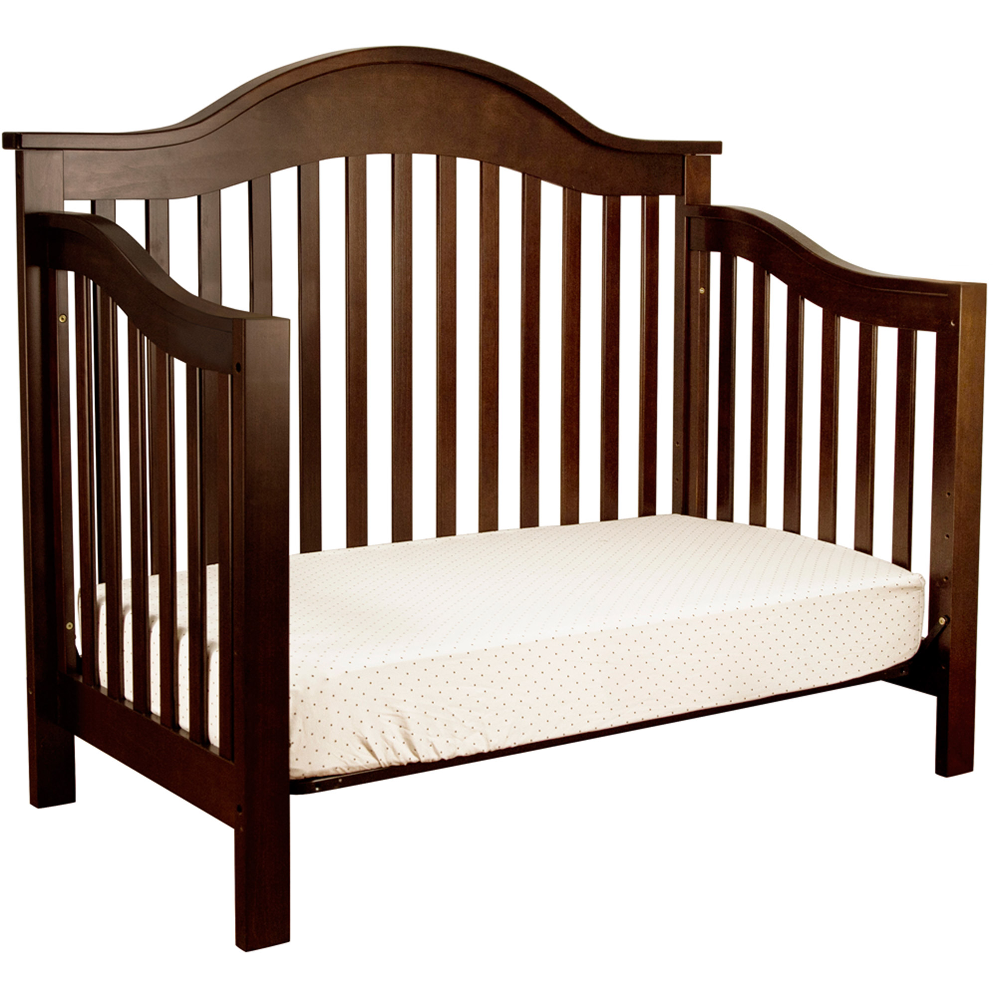in children chocolate lancaster angle products crib combo dark cribs convertible delta bed toddler
