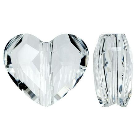Swarovski Crystal Heart Beads (Swarovski Crystal, #5741 Love Heart Bead 8mm, 2 Pieces, Crystal )