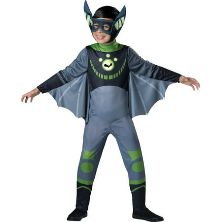 Wild Kratts Child Costume Green Chris Kratt Bat - Chris Russell Halloween