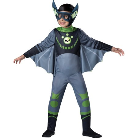 Wild Kratts Child Costume Green Chris Kratt - Bat Costume Kids