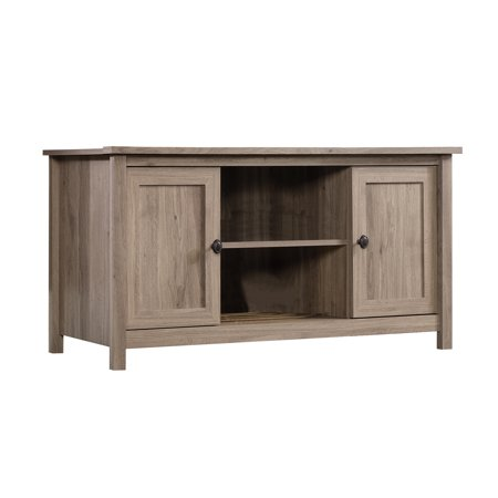 Sauder Furniture 417772 County Line Salt Oak Adjustable TV Entertainment Stand