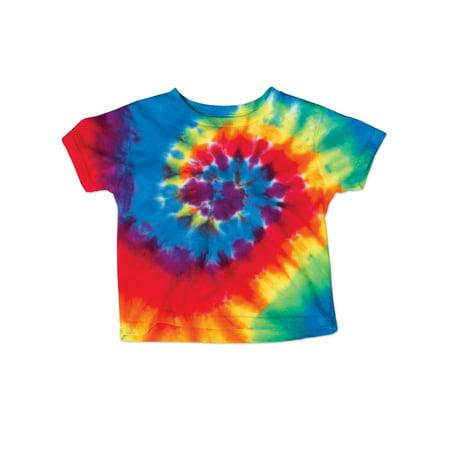 ac73457b5a9e5 Bright Rainbow Swirl Spiral Toddler Little Boys Little Girls Tie Dye  T-Shirt Tee