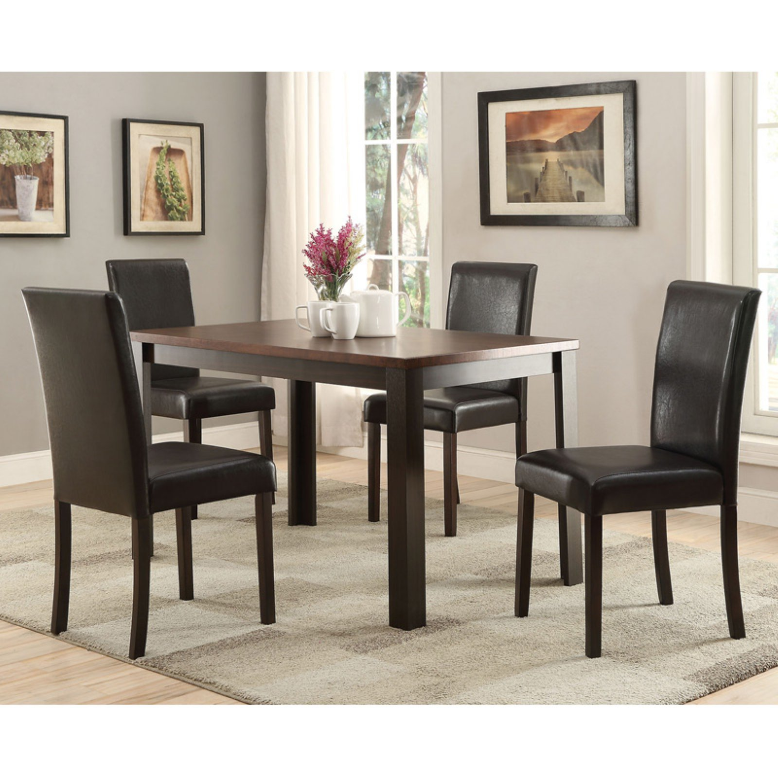Acme Furniture Kylan 5 Piece Rectangular Dining Table Set