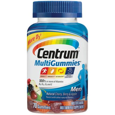 Centrum MultiGummies Men Multivitamin Gummies, 70