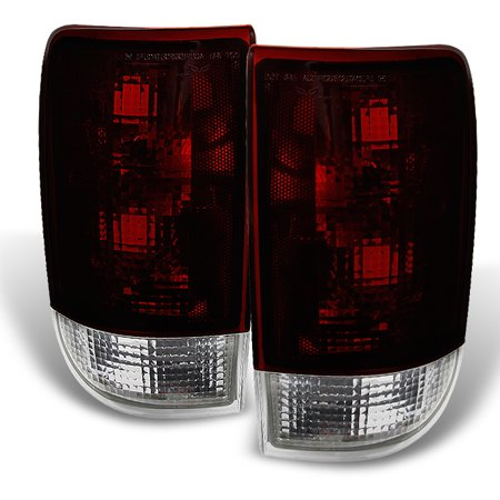 Fit 95-04 Chevy Blazer S10 GMC Jimmy Envoy Dark Red Tail Lights Replacement (Gmc Jimmy Tail Light Lens)