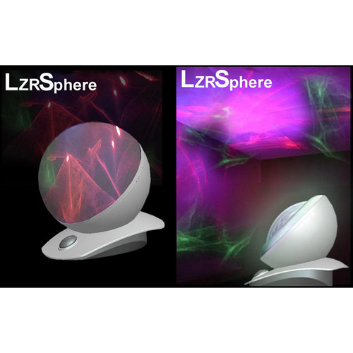 Laser Sphere, Silver/Clear