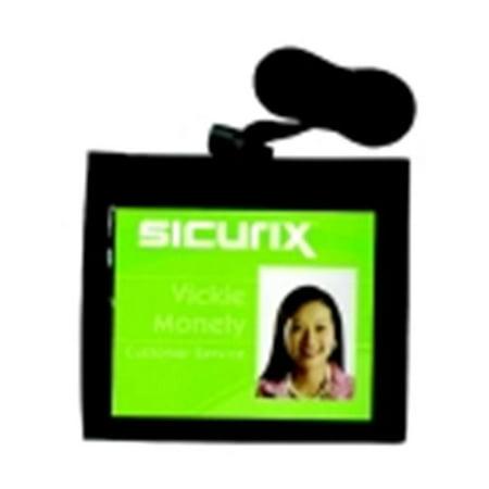 Sicurix Convention Identification Neck Pouch - 3 x 4 in. - Black