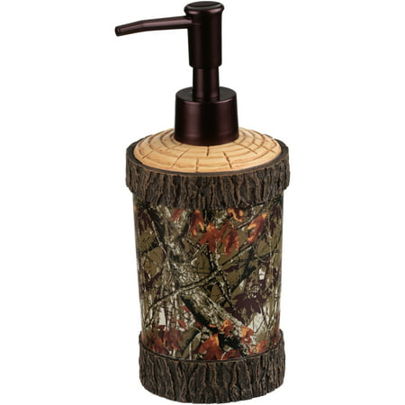 Mainstays Ozark Trail Green & Brown Camouflage Lotion Dispenser, 1 Each