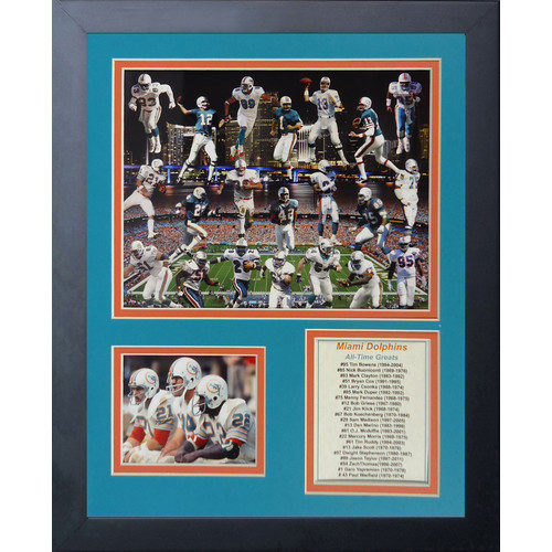Legends Never Die Miami Dolphins Dolphin Greats Framed Memorabili