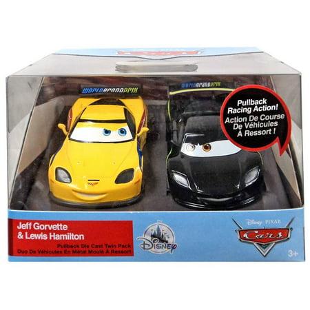Disney Cars Pull 'N' Race Jeff Gorvette & Lewis Hamilton (Jeff Gordon Race Car)
