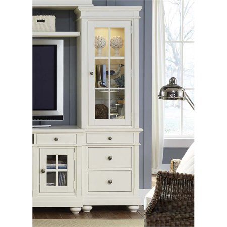 Liberty Furniture Harbor View Right Door Audio Pier Unit in Linen