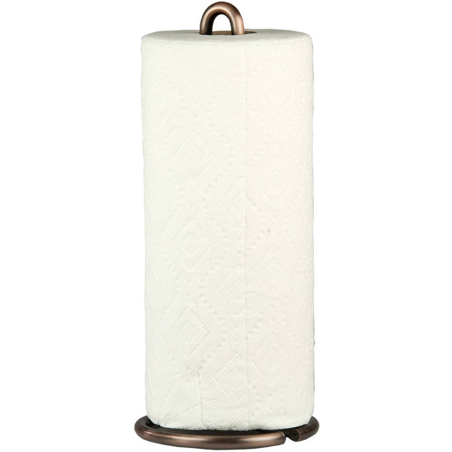 RSVP White Marble Paper Towel Holder Dispenser Kitchen Garage Countertop New MTH