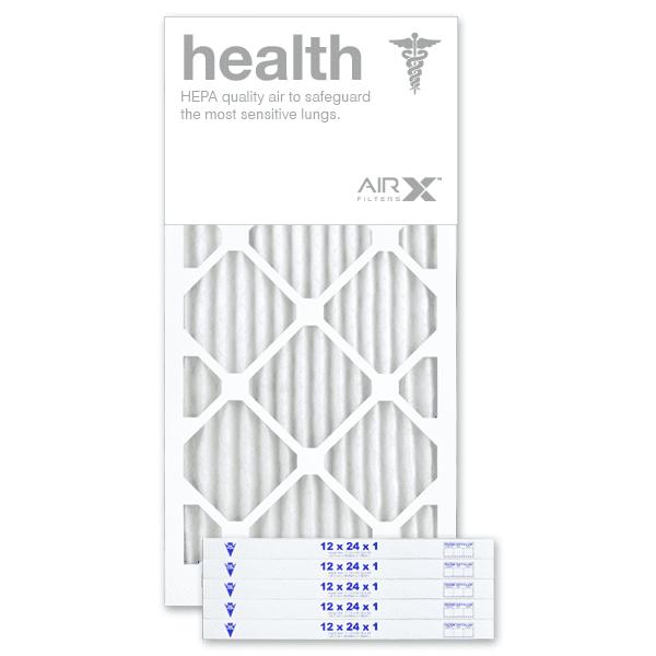 "12"" X 24"" X 1"" MERV 13 Pleated Furnace Filter, 6-Pack"