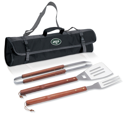 NFL 3-Piece BBQ Tote Set by Picnic Time - New York Jets