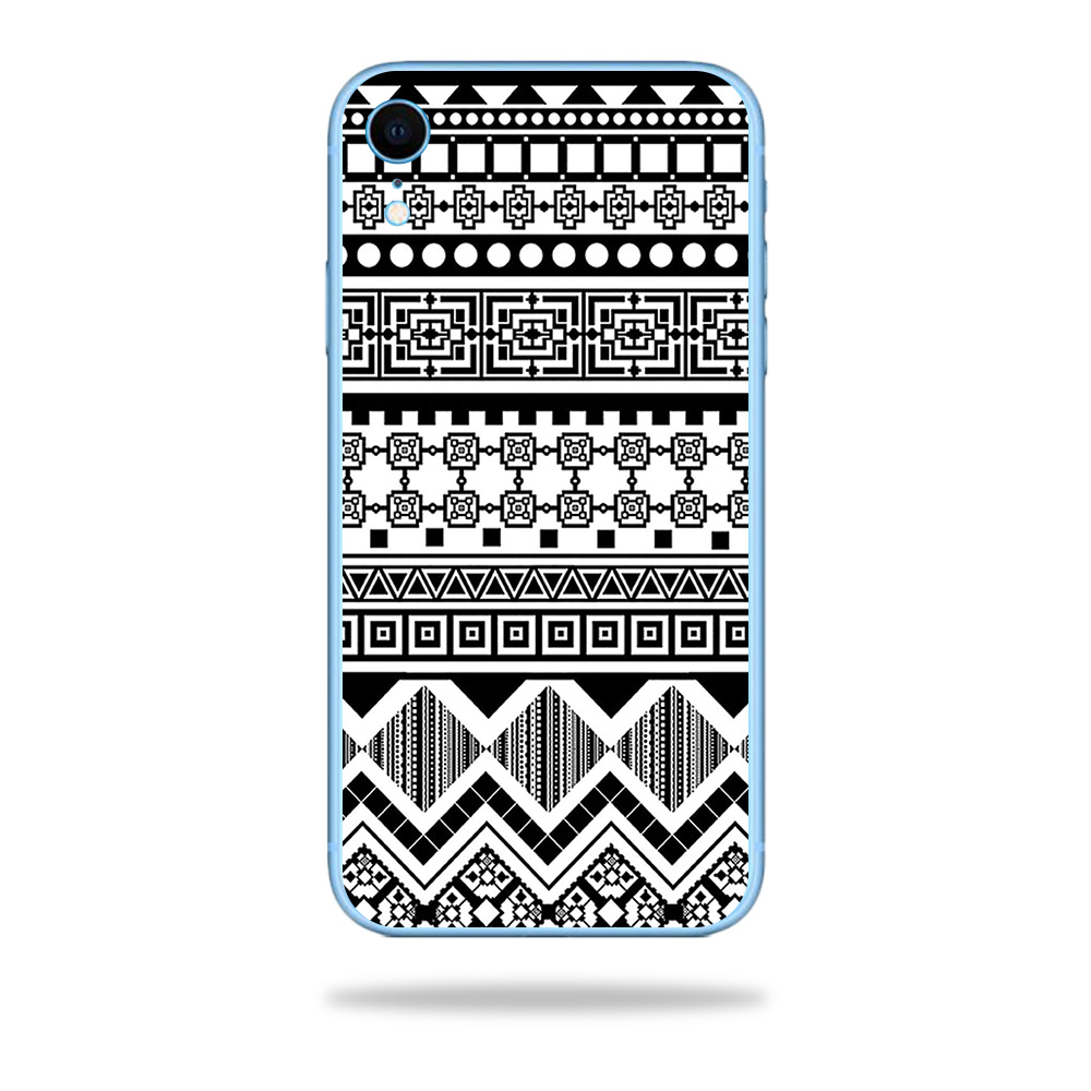 Skin For Apple Iphone Xr Black Aztec Protective