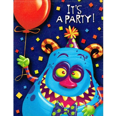 Happy Birthday Monster Party Invitations And Thank You Notes W Envelopes 8ct Ea