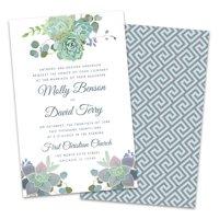 Personalized Succulents Wedding Invitation