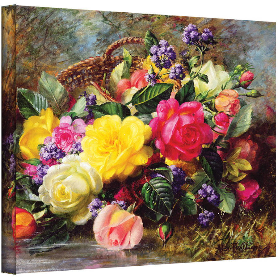 "Albert Williams ""Roses from a Victorian Garden"" Gallery-wrapped Canvas Wall Art"