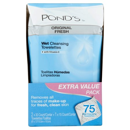 Pond's Wet Cleansing Towelettes Original Fresh 75 ct