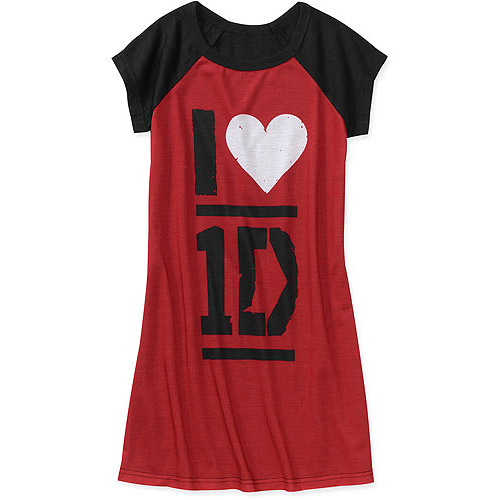 One Direction Love Forever Girls Short Sleeve Nightgown