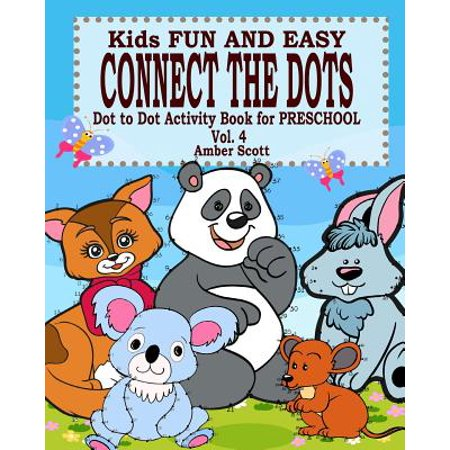 Kids Fun & Easy Connect the Dots - Vol. 4 ( Dot to Dot Activity Book for Preschool ) - Easy Preschool Crafts For Halloween