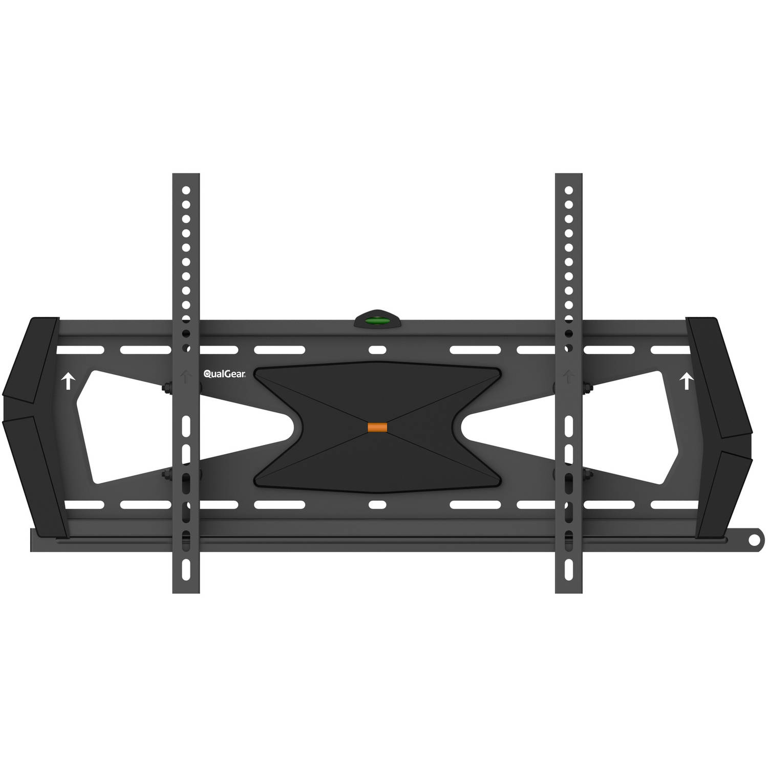 "QualGear Heavy-Duty Tilting TV Wall Mount for Most 37""-70"" Flat Panel and Curved TVs, Black"