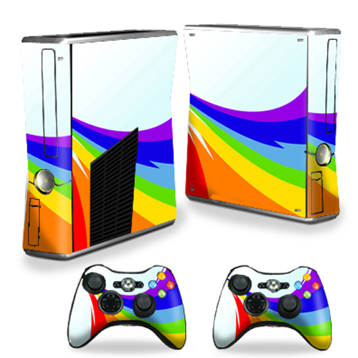 Mightyskins Protective Vinyl Skin Decal Cover for Microsoft Xbox 360 S Slim + 2 Controller skins