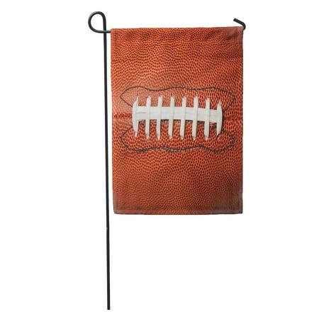 LADDKE Brown Oval American Football Ball Sport Skin College Pigskin One Garden Flag Decorative Flag House Banner 12x18 inch