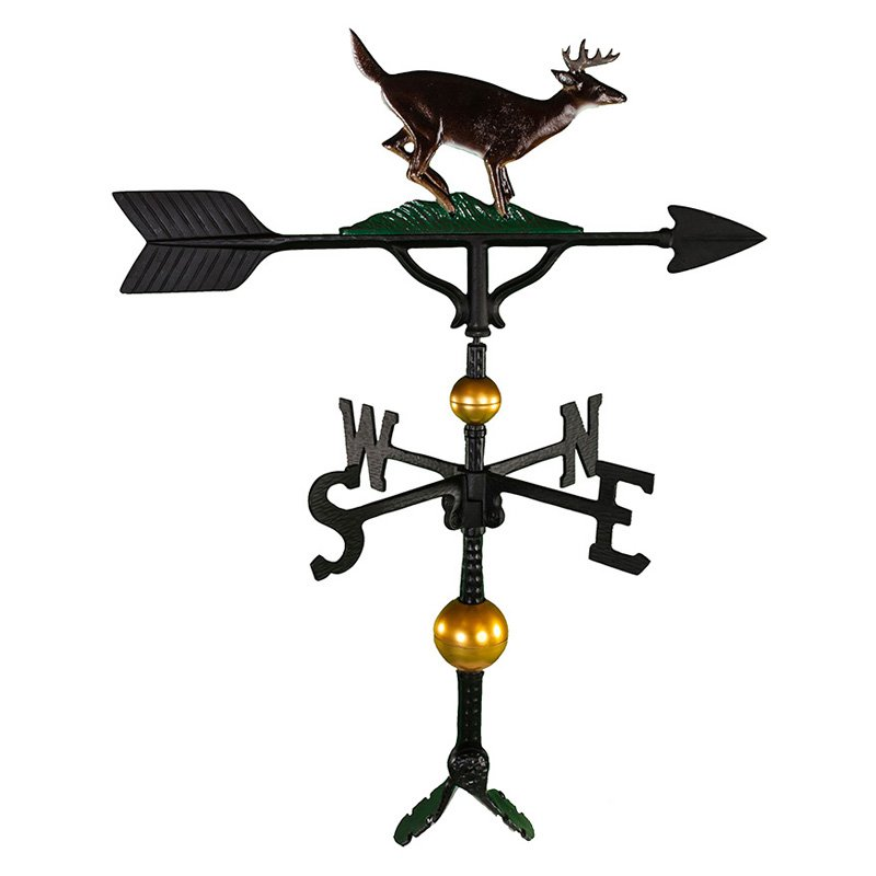 Deluxe Color Buck Weathervane 32 in. by Montague Metal Products