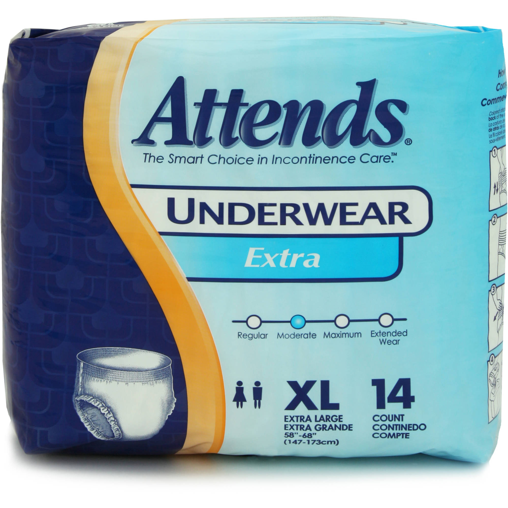 Attends Extra Absorbency Extra Large Protective Underwear, 14ct