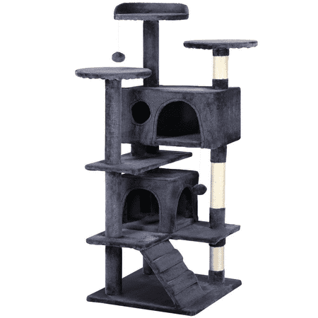 "51"" Cat Tree Tower Condo Furniture Scratching Post Pet Kitty Play House"