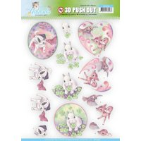 Find It Trading Jeanine's Art Young Animals Punchout Sheet-Cuties In Purple