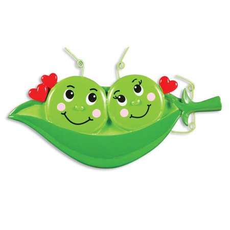 Two Peas In A Pod Personalized Christmas Ornament