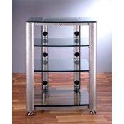 VTI HGR404 4 Shelf Glass Audio Cabinet/Rack