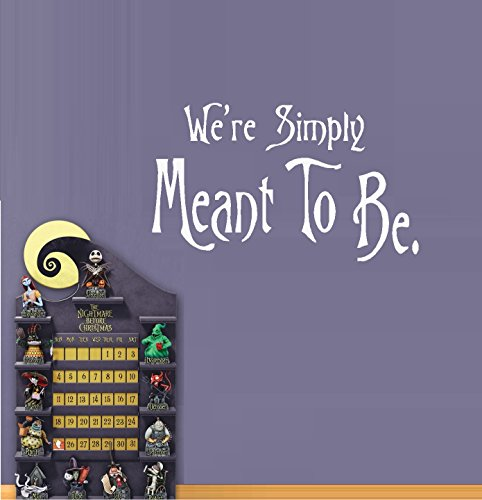 "We're Simply Meant to Be #1: Nightmare before Christmas Theme ~ Wall or Window Decal 13"" x 20"" (Black)"