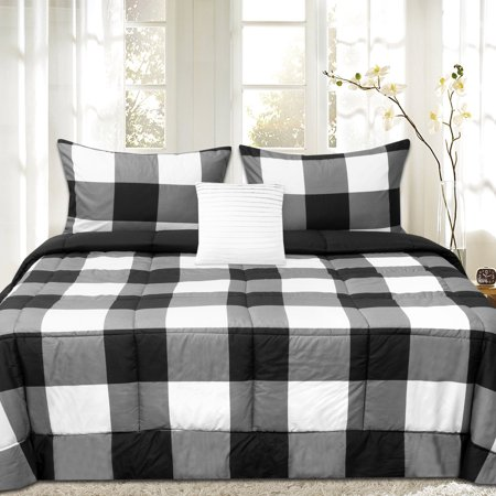 Comforter Set Bear Plaid - Buffalo Plaid Reversible Down Alternative Comforter Set