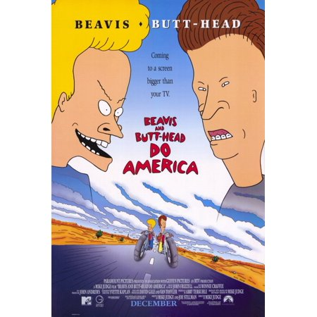 Beavis and Butthead Do America (1996) 27x40 Movie Poster - Beavis And Butthead Halloween Costume
