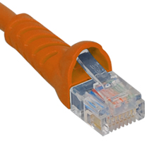 PATCH CORD- CAT 5e- MOLDED BOOT- 7' OR