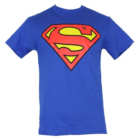 Superman (DC Comics) Mens T-Shirt - Classic Red & Yellow Logo