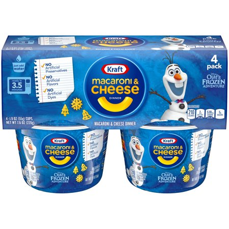 (3 Pack) Kraft Disney Olaf's Frozen Adventure Macaroni & Cheese Dinner 4-1.9 oz.
